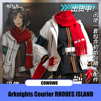 Anime! Arknights Courier RHODES ISLAND Version 1.0 2.0 Combat Gear Handsome Uniform Cosplay Costume Halloween Suit Free Shipping