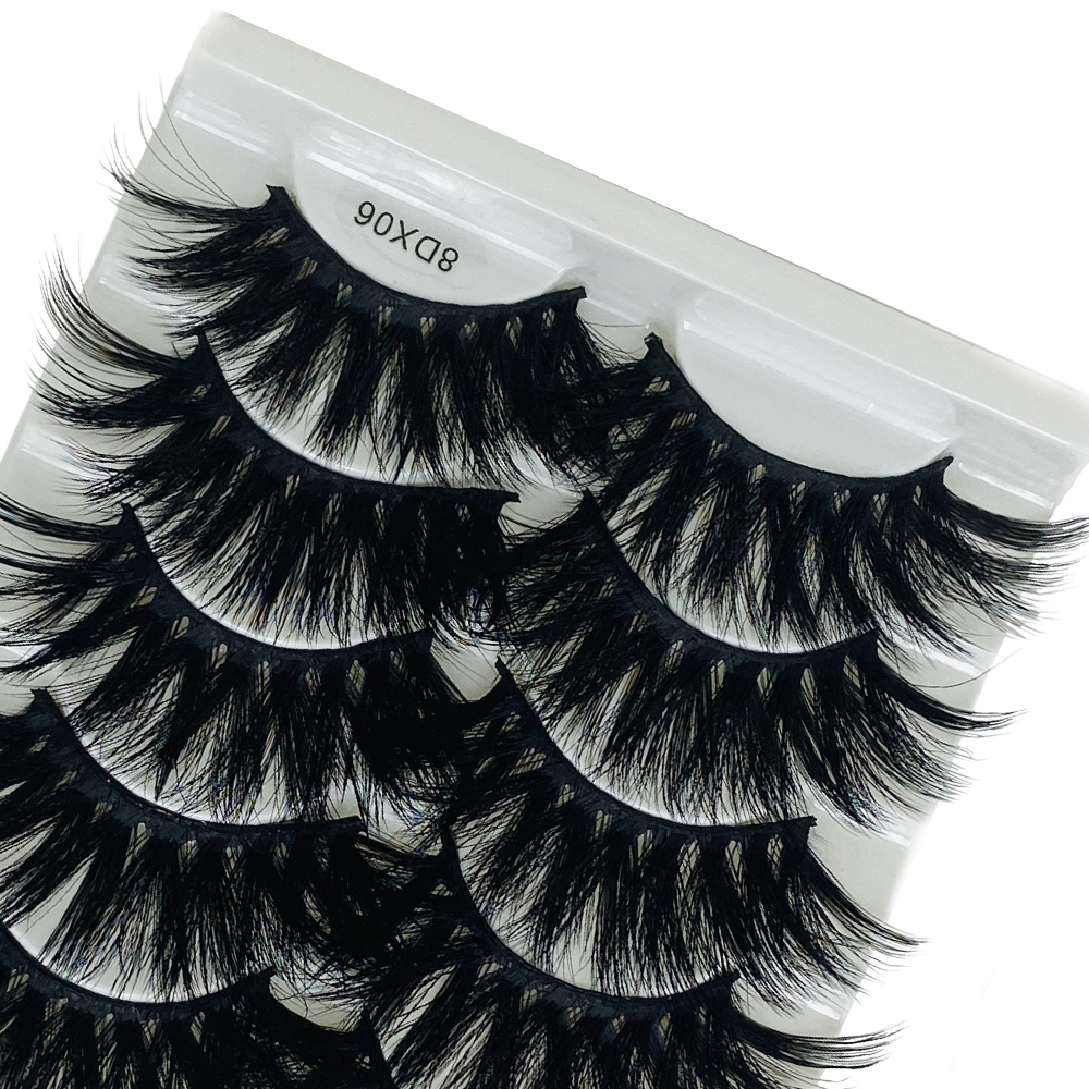 5Pairs 8D Faux Mink Hair False Eyelashes Natural/Thick Long Eye Lashes Faux Cils Maquillaje Wispy Makeup Beauty Extension Tools