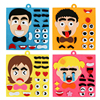 1 Set Jigsaw Puzzles EVA 3D DIY Toys Emotion Change Puzzle Toys Montessori Educational Toys for Children Learning Cartoon Puzzle