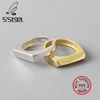 Ins минималистичные геометрические кольца из стерлингового серебра 925 пробы для женщин Изменяемая бижутерия ручной работы Argent 925 Massif Pour Femme ю...