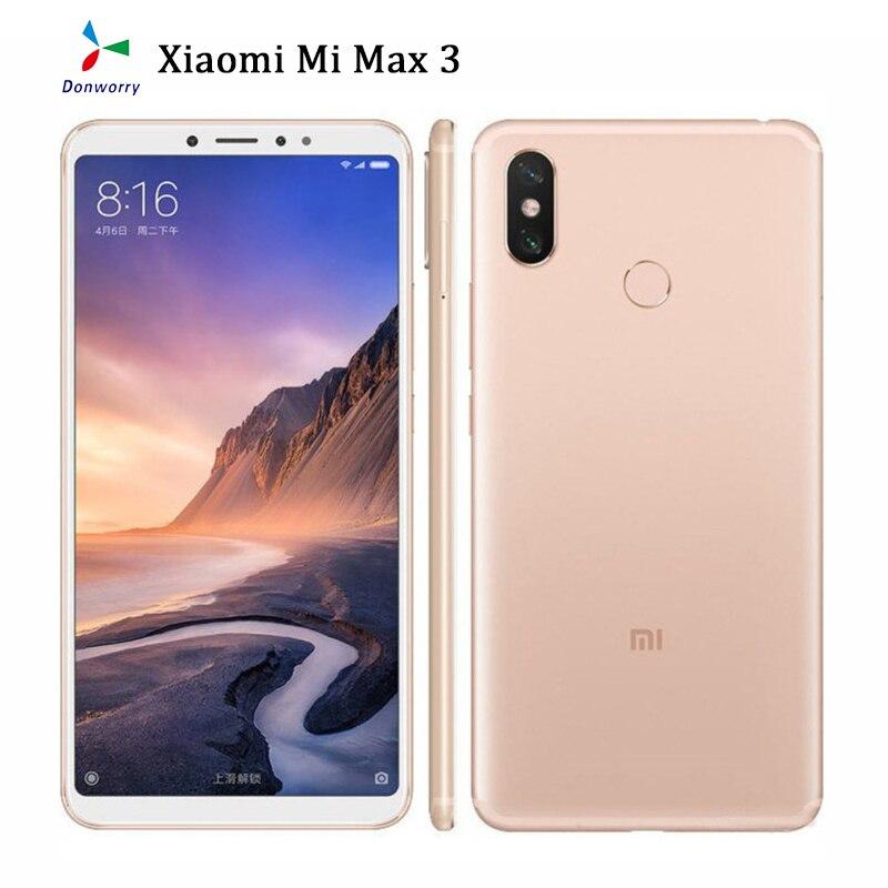 Разблокированный Xiaomi Mi Max 3 6,9 дюймов 6G RAM 128 ГБ ROM, определение отпечатка пальца 4G Android смартфон Celular Xiaomi глобальная версия Восстановленное