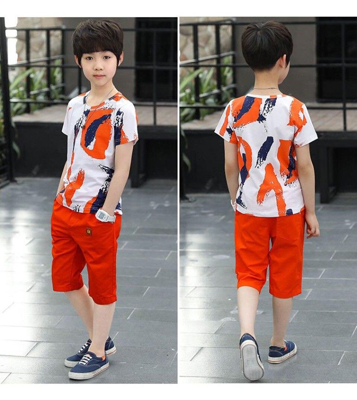 adolescentes roupas casuais terno crianças manga curta