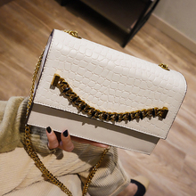 Fashion Alligator Pattern Pu Messenger Bag Women Small Flap Bags Lady Crocodile Shoulder Crossbody Bag Casual Soild New Handbags brand casual pu small alligator crocodile chains ladies women clutch famous designer shoulder messenger crossbody bags for lady