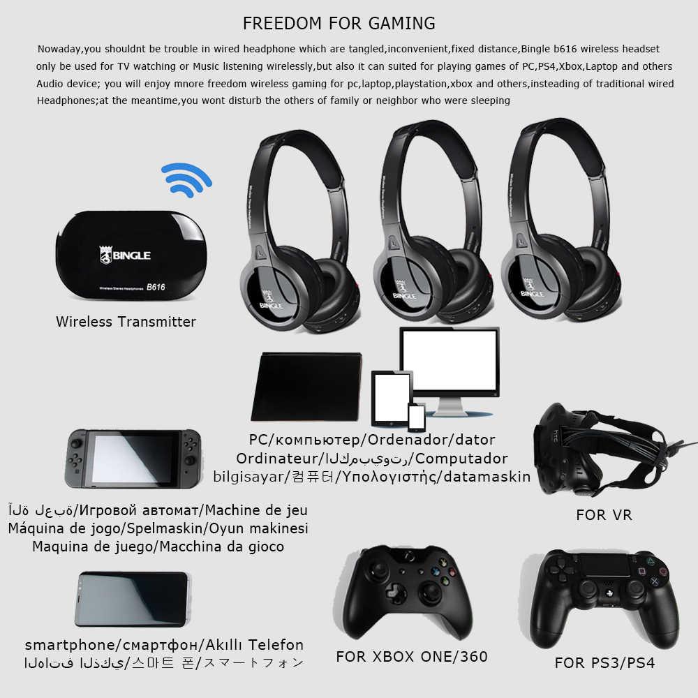 2.4G bezprzewodowy telefony głowy bezprzewodowy zestaw słuchawkowy słuchawki z nadajnik do gier, PS4, PC, Gamer, xbox, Playstation, telewizor, telefon komórkowy, gry