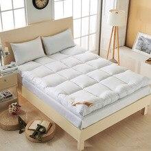VESCOVO Thicker goose down fiber mattress topper bed mattress single twin queen size