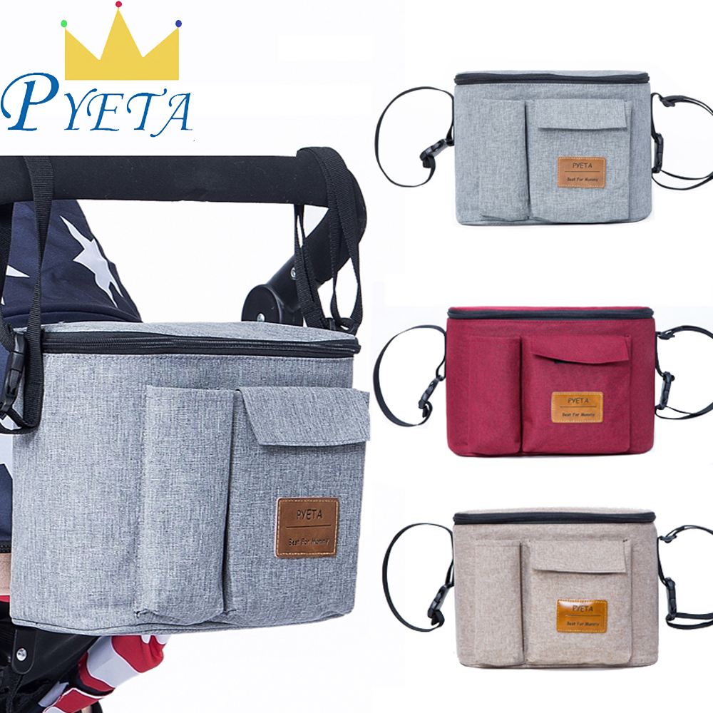 Diaper Bag For Baby Stuff Nappy Bag Stroller Organizer Baby Bag For Mom Travel Hanging Carriage Pram Buggy Cart Bottle Bag