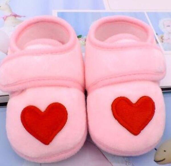Sapatos bebê vermelho com coração, sapatos infantis rosa de recém-nascido, calçados para berço, antiderrapante, preto, bebê, meninos, nova sandália 2019 doce 3