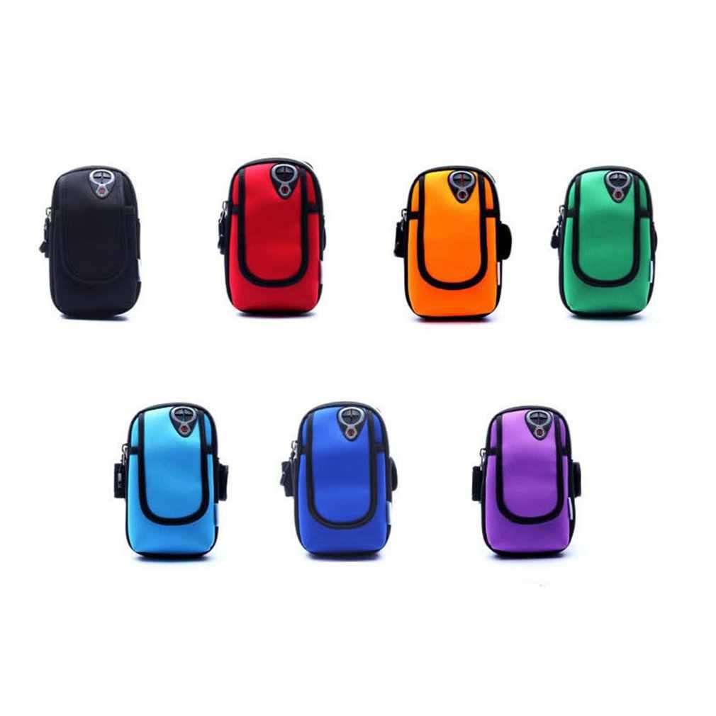 Camouflage étanche 6 pouces téléphone portable brassard sac pochette sport de plein air étui de course brassard support à la main pour iphone chaud