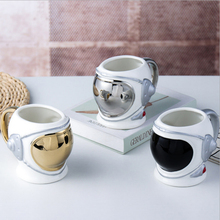 New 550ml Astronaut Space Helmet Ceramics Handel Coffee Large Volume Mug Creative Office Tea Milk Cup Color Box For Gifts