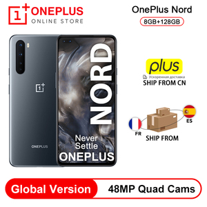 Новая глобальная версия OnePlus Nord 5G Snapdragon 76 5G смартфон 8 Гб 128 ГБ 6,44 ''90 Гц AMOLED экран 48 МП Quad Cams Warp Charge 30T