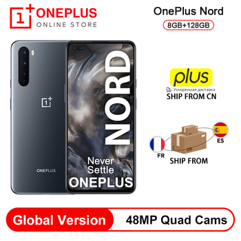 """Nueva versión Global OnePlus Nord 5G Snapdragon 765G teléfono inteligente 8GB 128GB 6,44 """"90Hz Pantalla AMOLED 48MP Quad cámaras Warp CARGO DE 30T"""