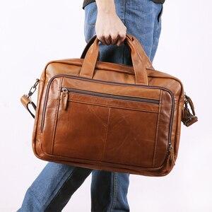 Mężczyźni pełna skóra licowa walizka biznesowa duża pojemność 17 Cal torby na Laptop prawdziwa krowa skórzana Tote mężczyzna Messenger torby
