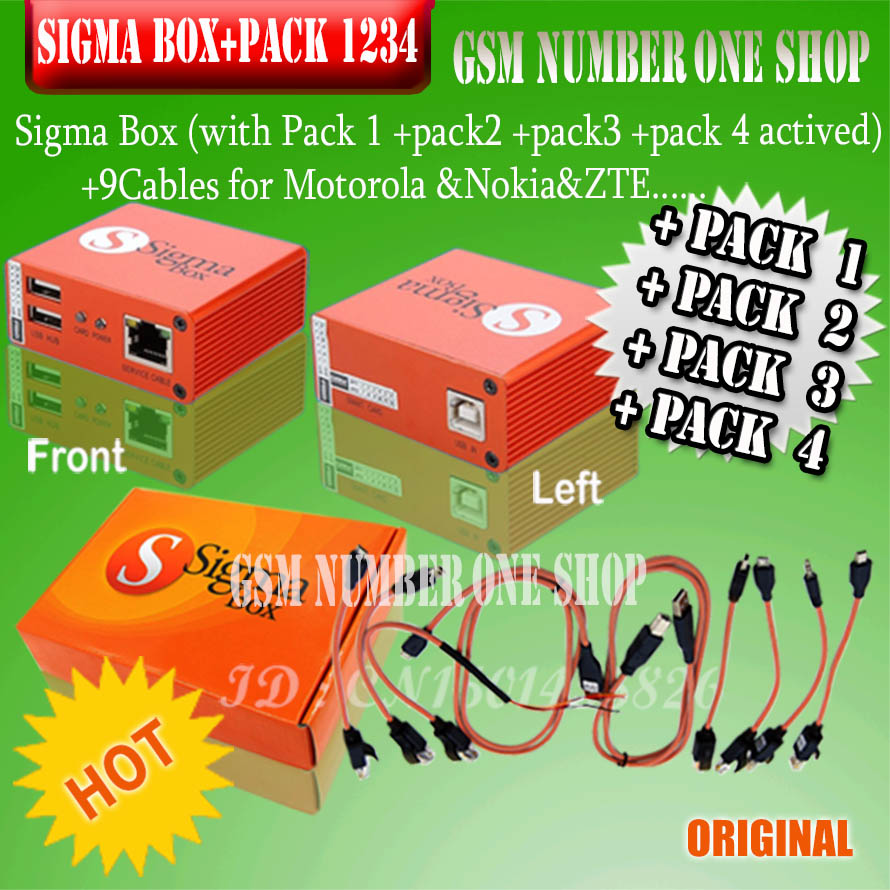 2019 Newest 100% Original Sigma Box + Pack1 2 3 4 / + 9 Cable + Pack 1 + Pack 2 +Pack 3 + Pack 4 New Update For Huawei .....