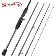 Sougayilang 1,8 2,4 м приманка рыболовной удочки 5 ю секциями Сверхлегкий Вес Спиннинг/спиннинговая удочка для путешествий приманка рыболовные снасти Pesca