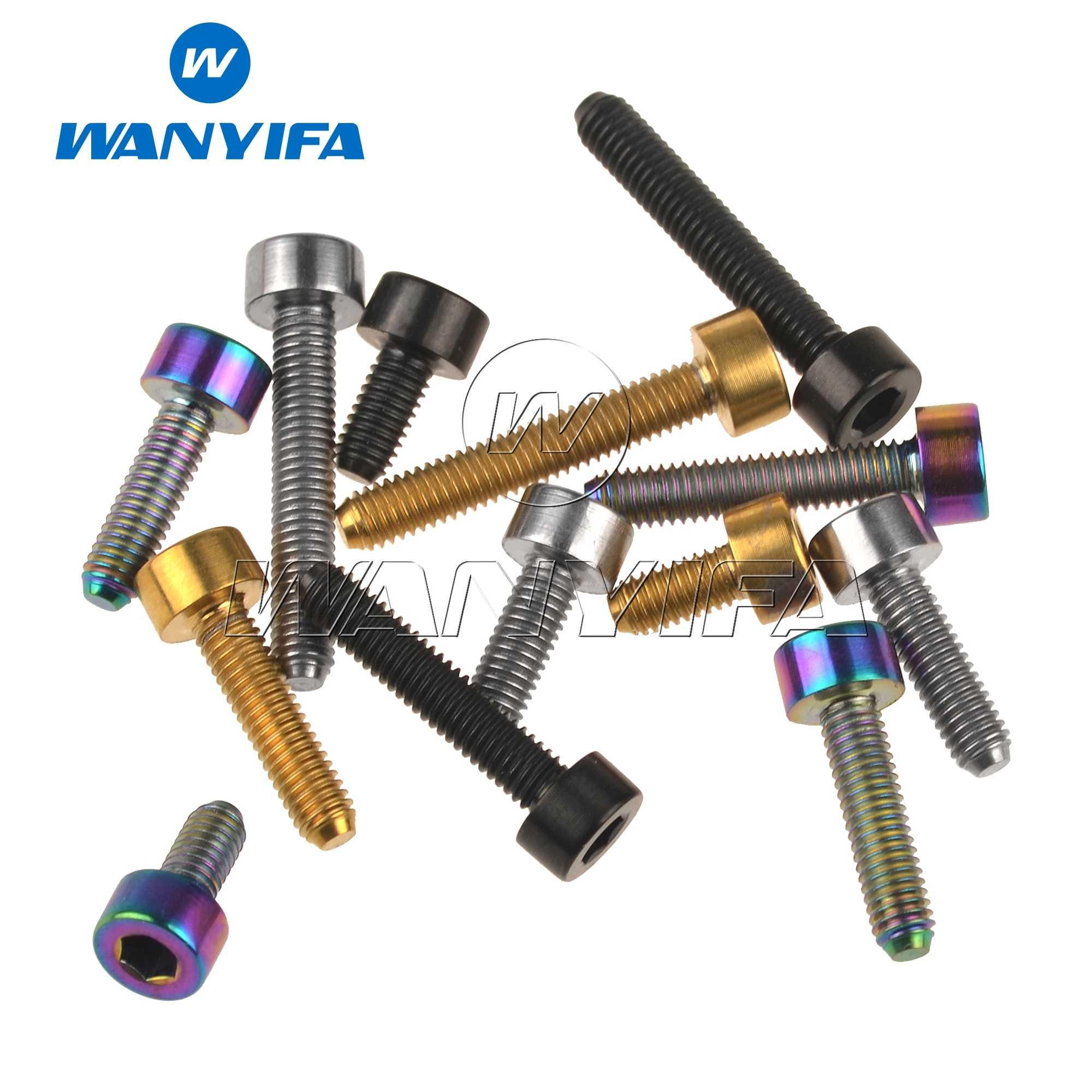 Bike Titanium Bolt M3 X 6 8 10 12 15 18mm Hexagon Stigma Repair Screw Fastener