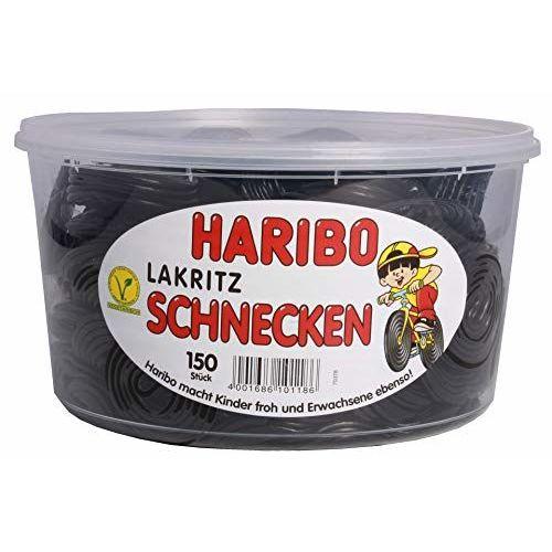 Haribo Regalices Caracoles, 1er Pack (1x 1.5kg Lata)