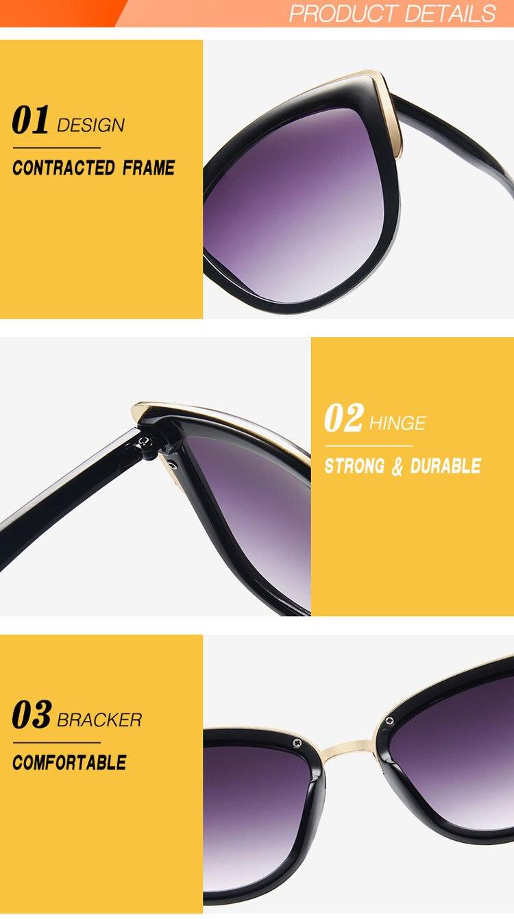 2020 μόδα γάτα γυαλιά ηλίου γυναικεία επώνυμα σχέδια γυναικεία γυαλιά ρετρό cateye γυαλιά ηλίου για γυναίκες oculos de sol uv400 msow