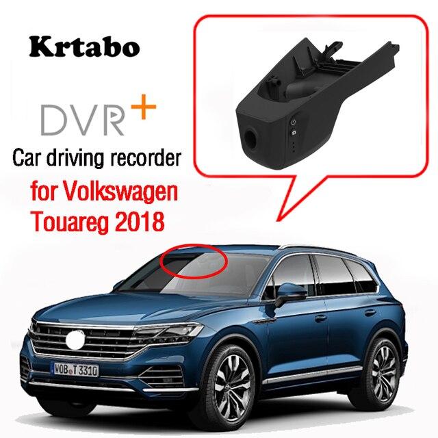 Para volkswagen touareg 2018 2019 carro dvr wi fi gravador de vídeo câmera traço cam alta qualidade visão noturna hd completo
