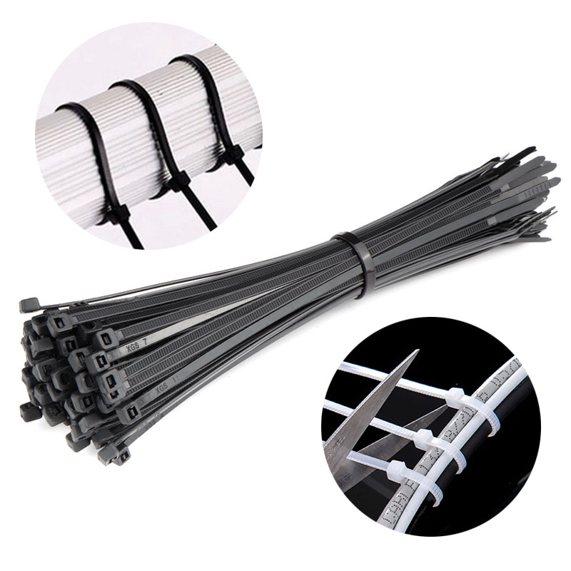 100pcs Bike Repair Fixed Cable Tie Zip Trim Wrap Cable Ties Loop Clamps Self-Locking Anti-Aging Cycling Bicycle Repair Tools