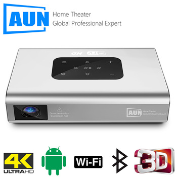 AUN Projector X5  4K Android WIFI 3D 10500mAH Battery 300inch 1080P DLP MINI Portable Vedio Projector Smart TV Laser Beamer HDMI