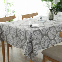 European Tablecloth High Quality Decorative Dustproof Table Cloths Cotton And Linen Cover Home Retro Gray Floral Available