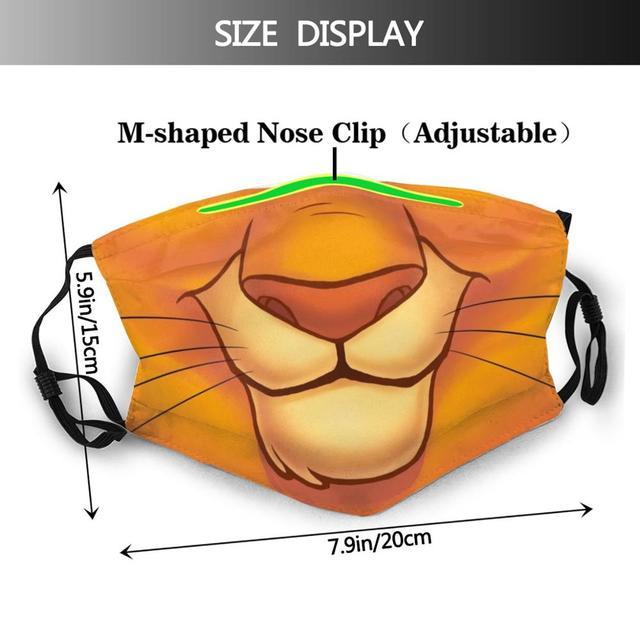 Lion Mask Diy Adult Kids Face Mask Quarantine Cute Animal Mask Kawaii Furry Protect Mouth Mask Anime Mask Funny Masks Trend 1