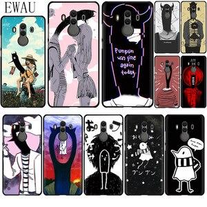 EWAU Goodnight Punpun Silicone phone case for Huawei Y6 Y7 Y9 Prime Mate 10 20 30 Lite Pro