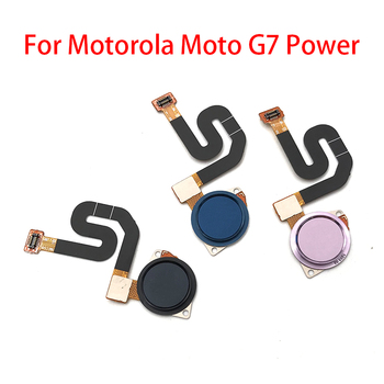 10Pcs/Lot, New For Motorola Moto G7 Power Fingerprint Sensor Home Return Key Menu Button Flex Ribbon Cable