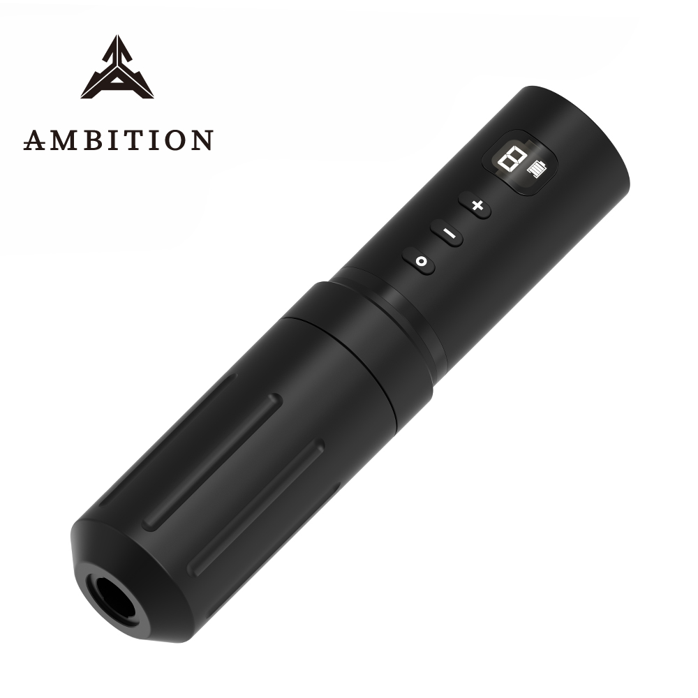 Ambition Ultimate Edition Wireless Tattoo Pen Machine Grip 32mm Coreless Motor Stable 2A Output Professional Tattoo Equipment