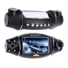 цена на 2.7 inch R310 Dual Lens HD Car DVR Camera GPS IR 140 Degree Night Vision Rear View Auto Car Camera G-sensor Car Camera Recorder