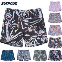 SURFCUZ Mens Swim Shorts Beach Board Shorts with Pocket Summer Volley Shorts Swim Trunks for Men Quick Dry Swimwear Sports Short
