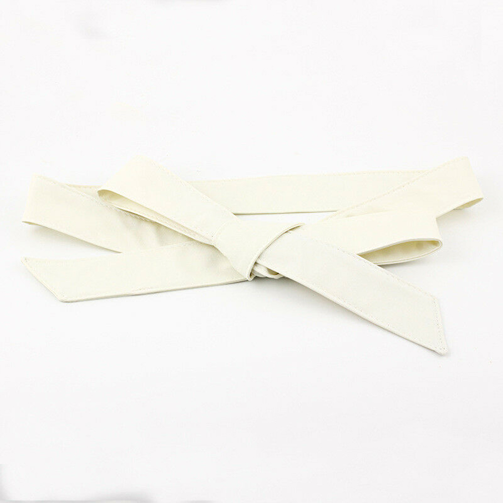 Fashion Ladies Ribbon Wrap Around Casual Dress Decor Silk Soft Waistband Women Waist Belt Bowknot Wide Corset Self Tie