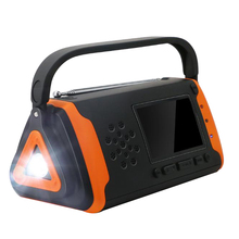 NOAA Weather Crank Solar Powered Portable Radio for Cell Pho