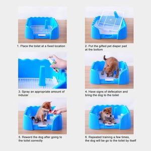 Image 5 - 애완 동물 훈련 화장실 휴대용 개 고양이 사소한 트레이 애완 동물 훈련 쓰레기 상자 울타리 실내 야외 사용 애완 동물 용품