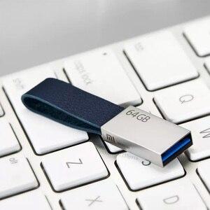 Image 4 - Oryginalny Xiaomi Mijia U dysku 64GB USB 3.0 wysokiej prędkości transmisji metalowy korpus kompaktowy rozmiar przenośny wzór na smycz