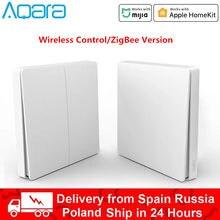 Настенный выключатель Xiaomi Aqara D1 Smart Zigbee, Беспроводной Выключатель с дистанционным управлением, с нулевой линией, подключение FireWire, без нейтр...