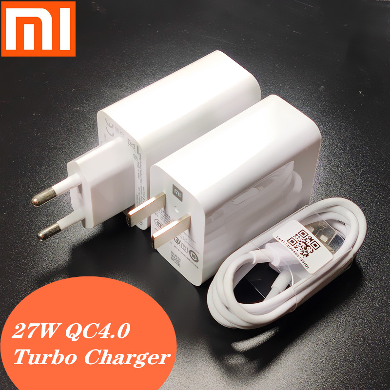 Xiaomi <font><b>charger</b></font> <font><b>mi</b></font> 9 Fast <font><b>charger</b></font> adapter QC4.0 <font><b>27W</b></font> USB Quick charge Turbo Type C cable For xiaomi mi9 se <font><b>mi</b></font> 8 6 note 7 pad plus image
