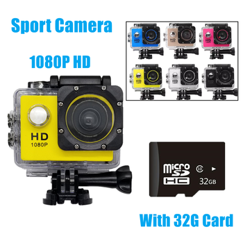 1080P HD Mini Action Camera 12MP Wireless IP Camera Camcorder 30m Waterproof DV Sports Cam CCTV Night Version Human Tracking 1