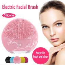 Electric Silicone Facial Brush Skin Care Face Brush Sonic Vibration Deep Pore Cleansing Washer Blackhead facial cleansing brush