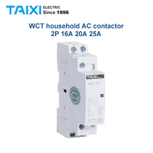 WCT household Din rail Modular AC contactor 2P 25A/20A/16A 2NO 2NC 1pole 1NO 1NC 50/60HZ 220V Wholesale house Building Contactor стоимость