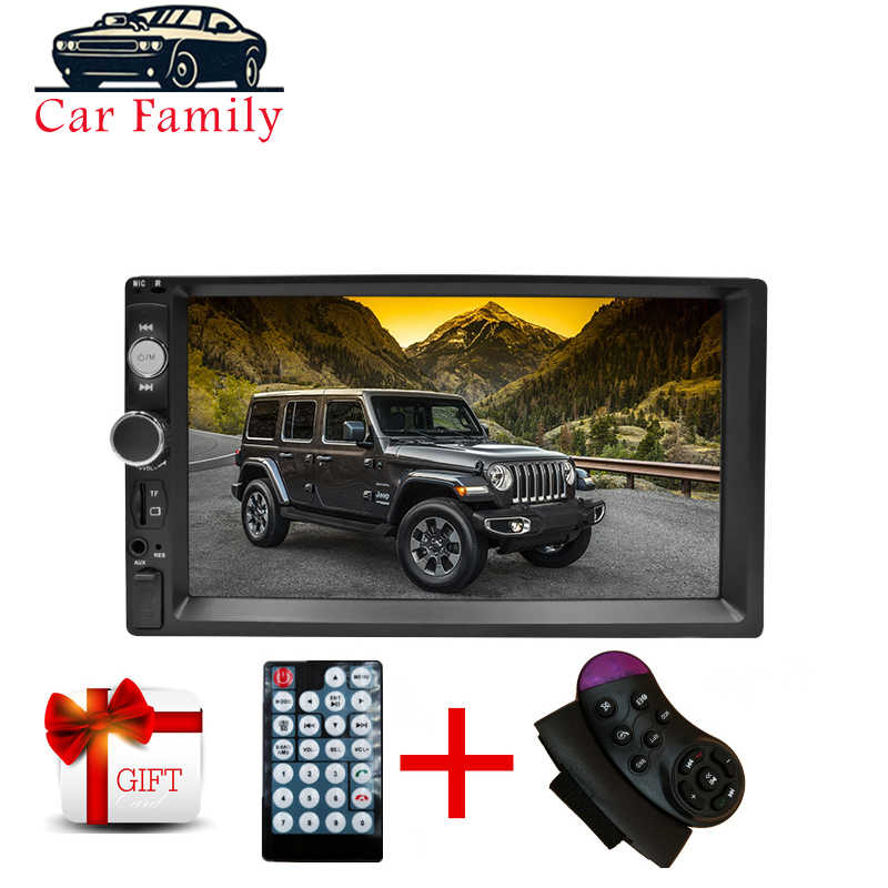 "Familia de coches 2 Din Radio de coche 7 ""HD Auto Audio estéreo reproductor MP5 pantalla táctil Autoradio Multimedia Bluetooth USB TF FM 7010B"