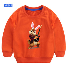 toddler girl sweatshirt kids clothes Baby boy 2019 autumn streetwear Alvin and The Chipmunks white winter top