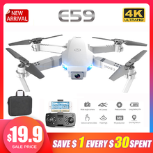 New E59 RC Drone 4K HD Camera Profesional Aerial Photography WIFI Real Time Transmission Helicopter 360 Degree Flip Dron VS E58