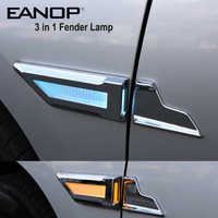 EANOP CAR LED Fender Lamp 3 in1 Waterproof Auto Side Daytime Running Turn Signals Parking light for Universal Cars car styling