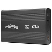 3.5 inch USB 2.0 to SATA Port SSD Hard Drive Enclosure 480Mbps HDD Case Portable USB 2.0 SATA Adapter Hard Disk Enclosure Case 2 5 inch usb 3 0 to sata external hdd hard drive hard disk enclosure case sata hard drive enclosure support hard drive up to 2tb