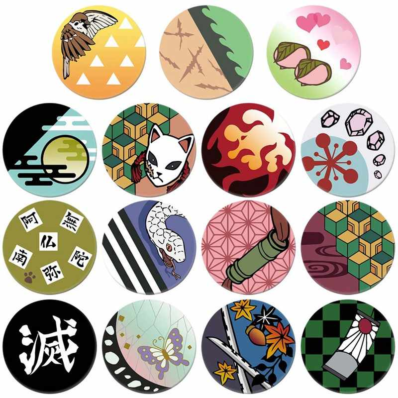 Nieuwe Anime Demon Slayer Kimetsu Geen Yaiba Kamado Tanjirou Pins Voor Rugzakken Cartoon Pin Badge Decoratie Broches