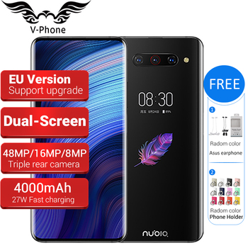 "EU Version ZTE Nubia Z20 Dual Screen Mobile Phone Snapdragon 855 plus 6.42"" 5.1"" 6GB/ 8GB 128GB 4000mAh Triple Rear 48MP Phone"