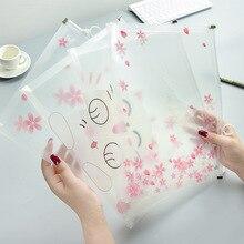 Вишневая Сакура милый кот прозрачная А4 Сумка-файл для документов сумка файл папка канцелярские Патчи Производство