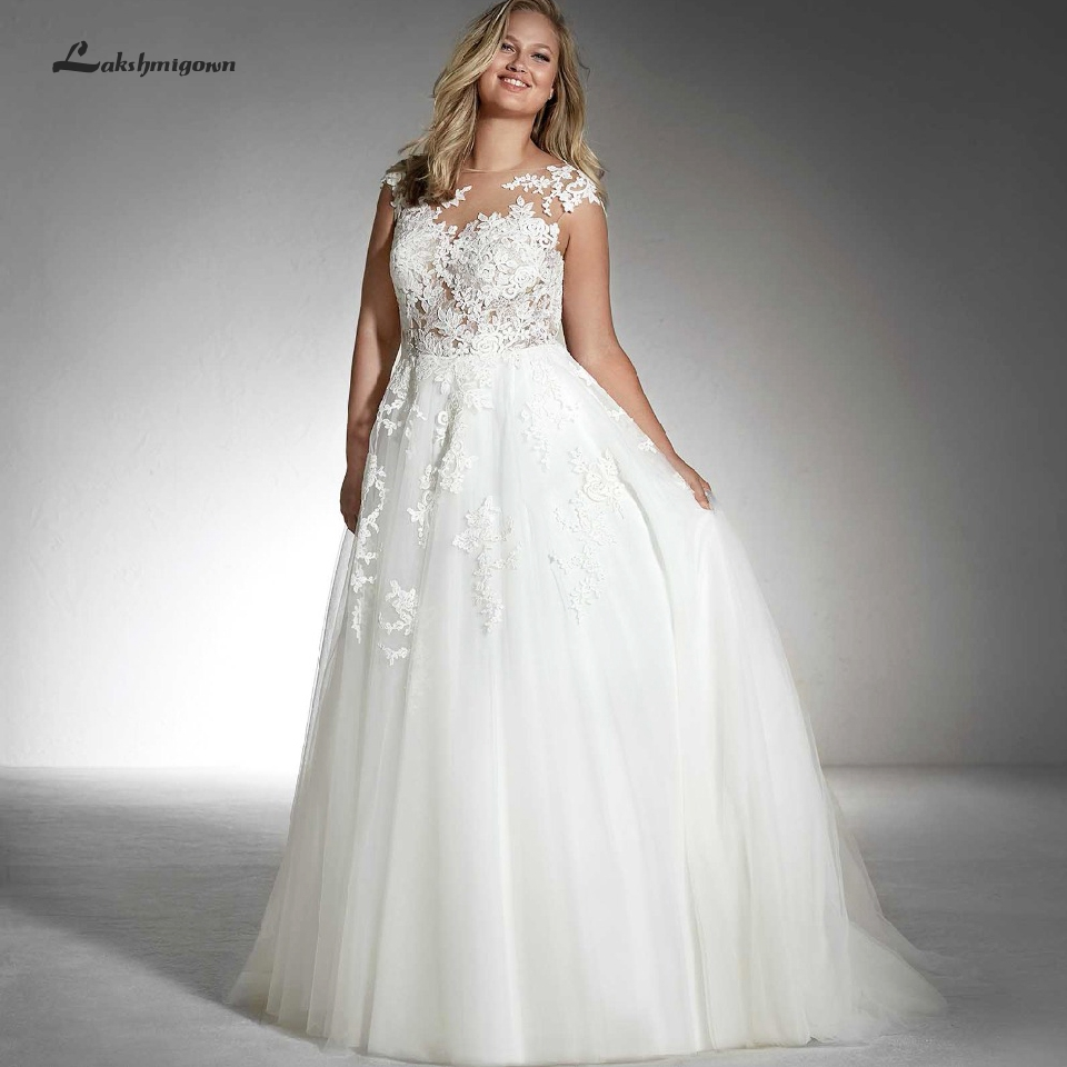 Lakshmigown White Tulle Wedding Dress Plus Size Bridal Gown ...