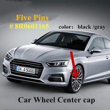 AUDI Genuine Wheel Center Hub Caps 4pcs Matt Black A3 Q3 TT 2009-2017